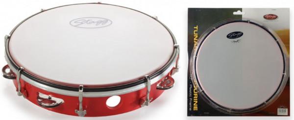 "Kunststoff-Tambourin 10"" TAB-110P/RD"