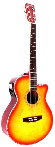 Westerngitarre mit Tonabnehmer Uniwell FG-30E