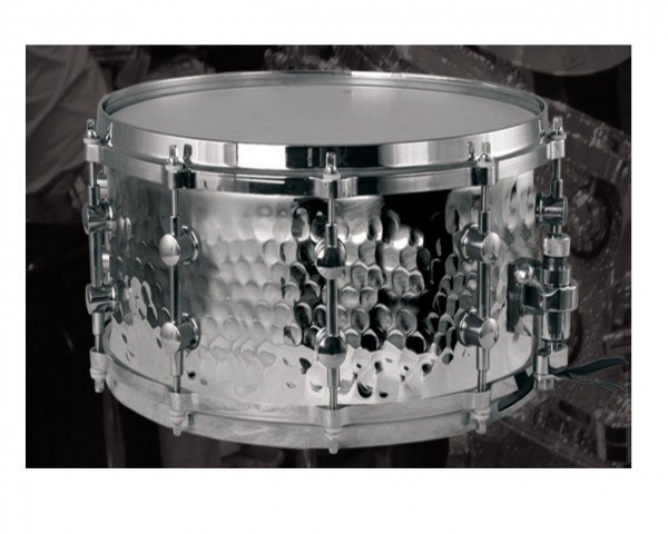 MES Hand Hammered Stainless Steel Shell Snare