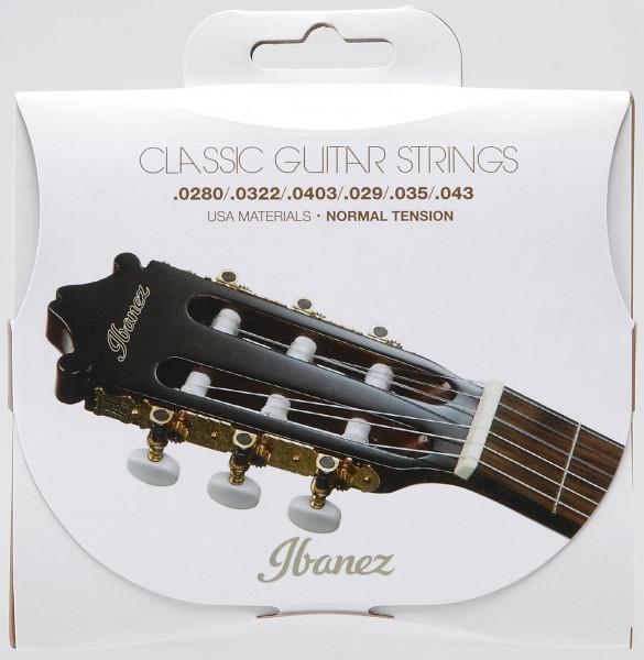 IBANEZ Saiten Set für 6 String Normal Tension .0280/.0322/.0403/.029/.035/.043 Clear Nylon / Silverplated Wound, ICLS6NT