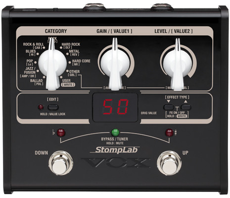 VOX Gitarrenprozessor, StompLab, E-Gitarre, Multieffekt, VXSL1G