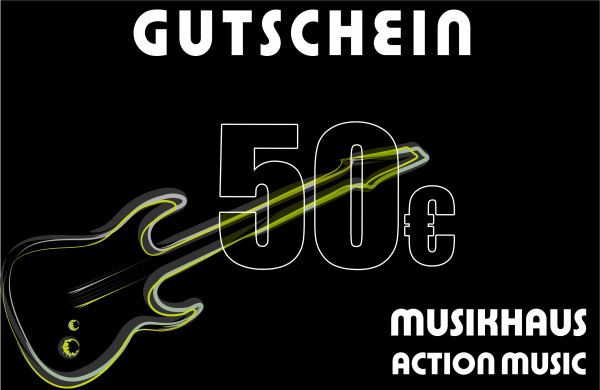 ACTION MUSIC Gutschein über 50.-€