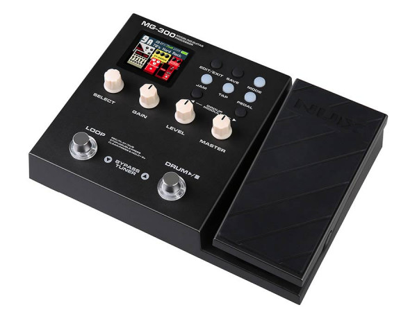 MG-300  NUX Multi Effect und Amp modeling Prozessor mit Expression Pedal