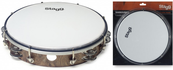 "Kunststoff-Tambourin 10"" TAB-210P/WD"