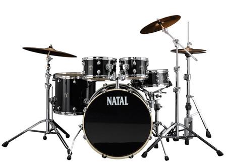 NATAL Shellset, Spirit, Fusion 20, 5-tlg., Black Wrap