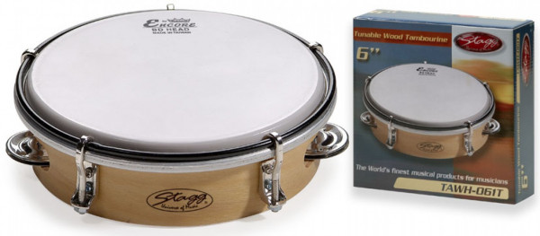 """Holz-Tambourin 6"""" TAWH-061T"""