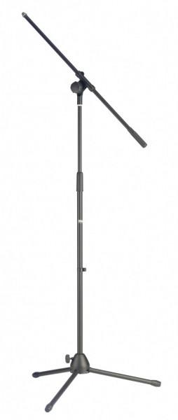 Mikrofon Ständer m. Galgen u. zusammenklappbarem Metallfuß, MIS-1022BK