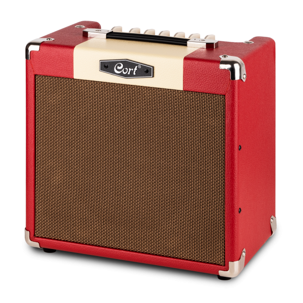 CORT E-Gitarrencombo, CM15R, Dark Red, 15 Watt, COCM15RDR