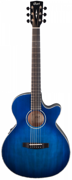 CORT Westerngitarre, SFX-E, Transparent Blueburst, Preamp