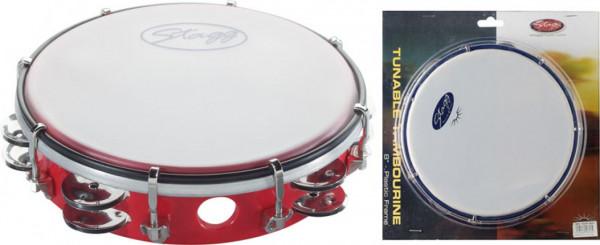 "Kunststoff-Tambourin 8"" TAB-208P/RD"